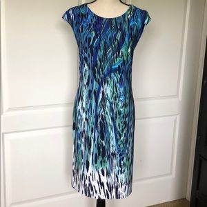 """Chico's """"water color"""" pullover dress."""